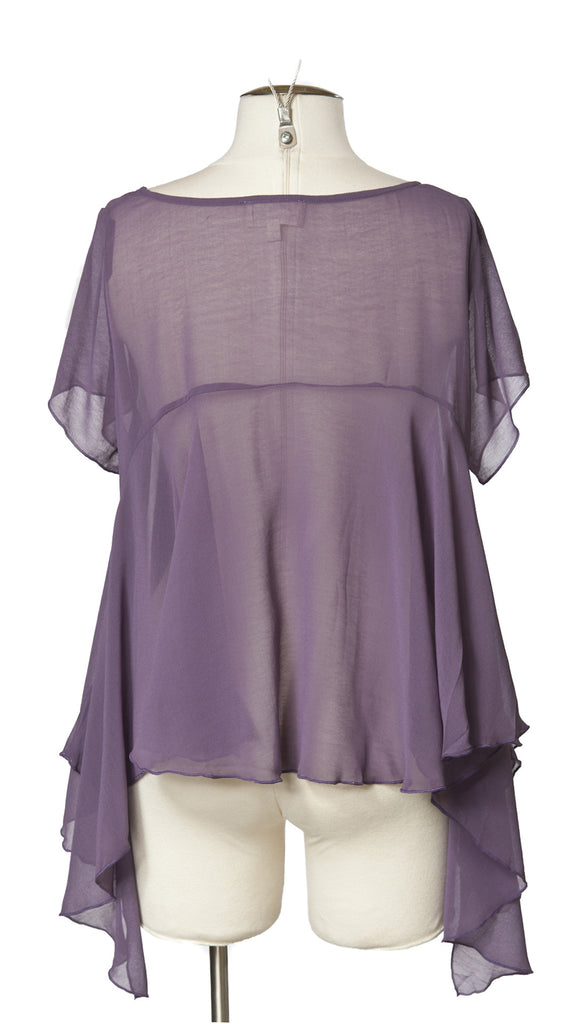 Flowing Tee in Sugarplum