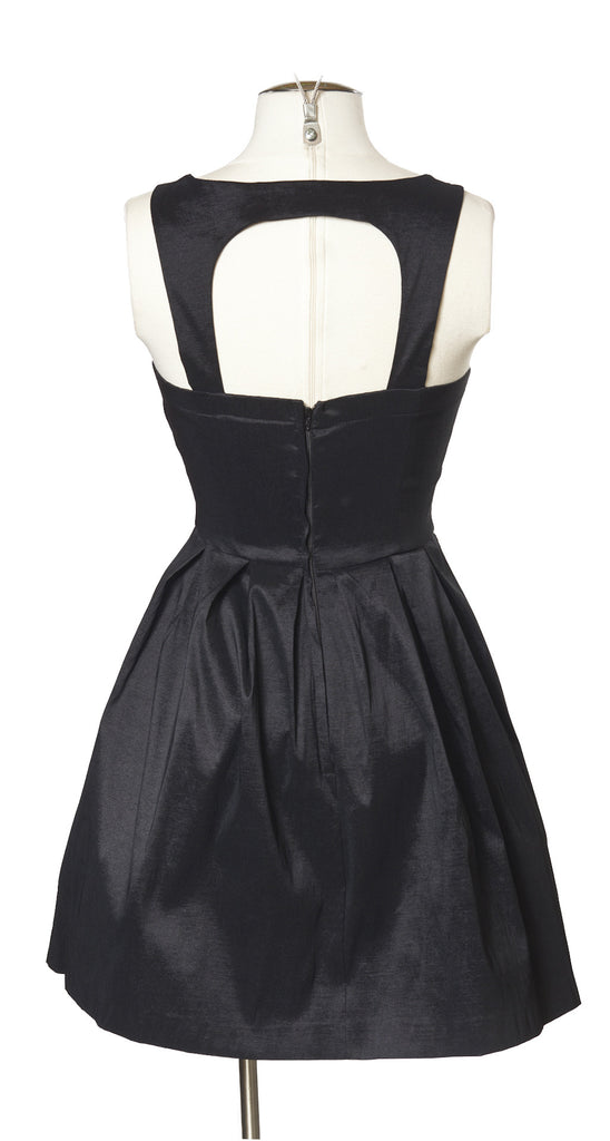 Made the Cut Dress in Black Taffeta