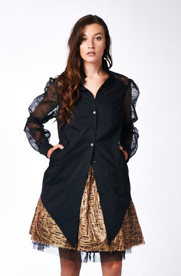 Bishop Blouse in Black