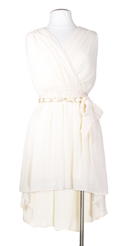 Bistro With the Flow High Low Dress in Ivory