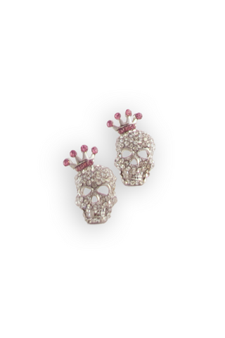 Skull and Bows Earrings