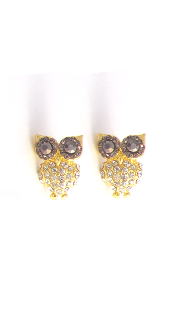 Owl Are You Doing Earrings in Gold