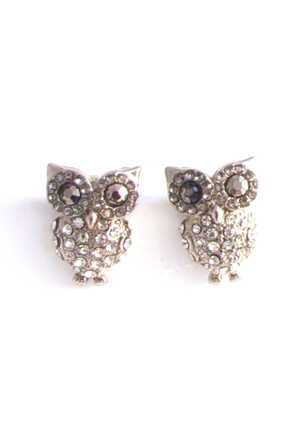 Owl Are You Doing Earrings in Pewter