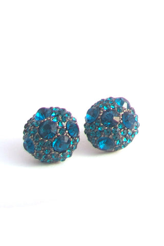 Kiss and Teal Earrings