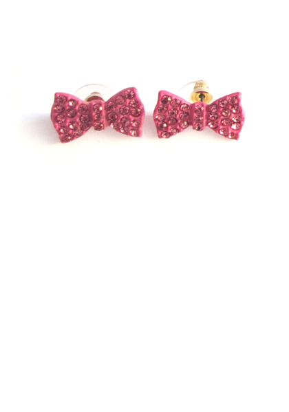 Bow Me Over Earrings in Soft Pink