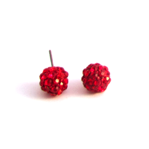 Lovely Dot Earrings in Red