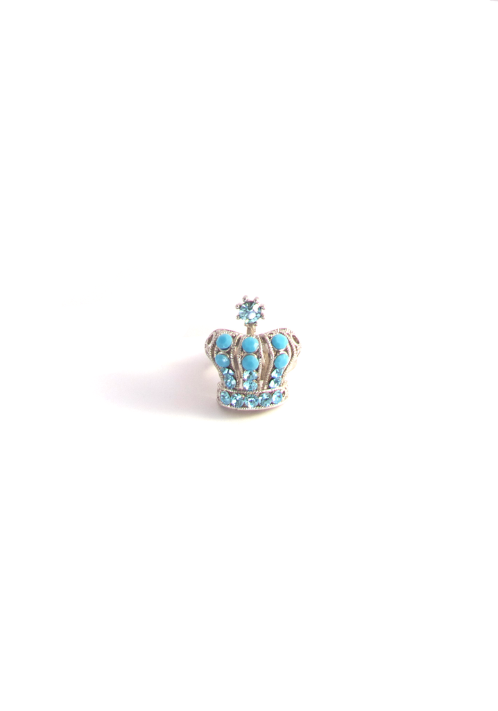 Elaborate Coronet Ring in Turquoise