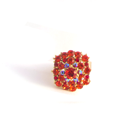 Tangerine Treasure Ring