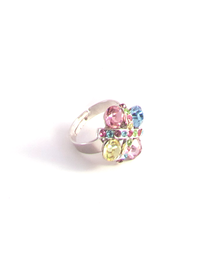 Stained Glass Window Ring in Multicolor