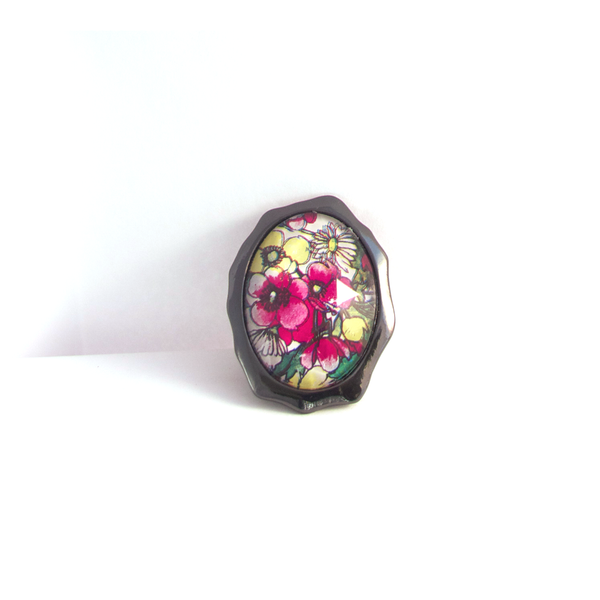 Floral Portrait Ring
