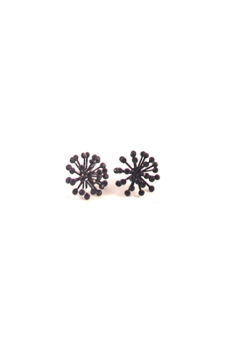 Noir Florette Earrings