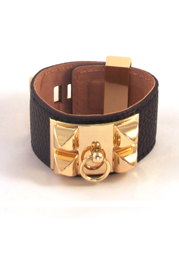 Luxurious Luggage Cuff Bracelet in Black