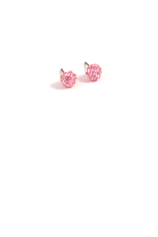 Lovely Dot Earrings in Light Pink