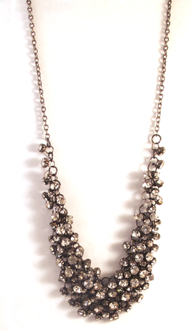 Sangria Sparkler Necklace in Pewter