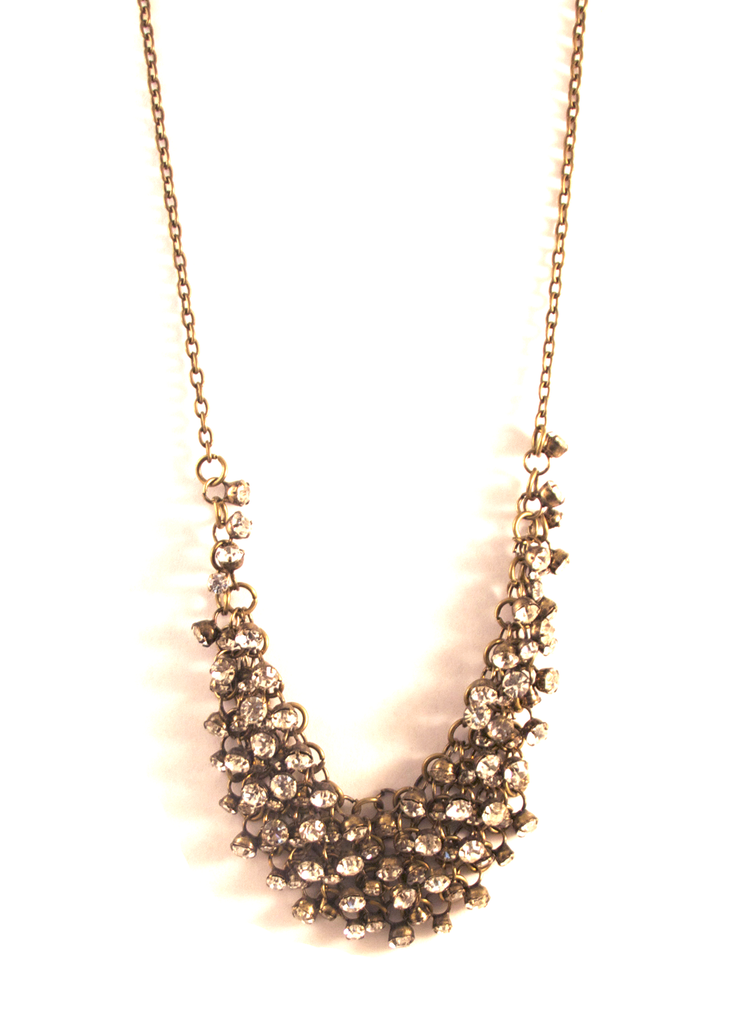 Sangria Sparkler Necklace in Antique Gold