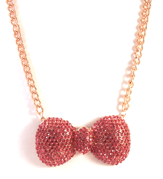 Bow To Your Partner Necklace in Rose