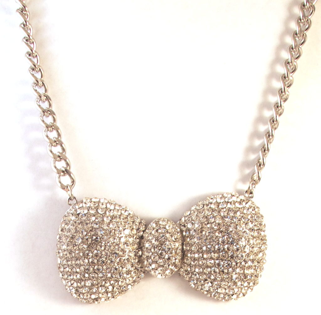 Bow To Your Partner Necklace in Crystal