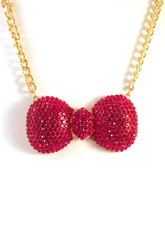 Bow To Your Partner Necklace in Red