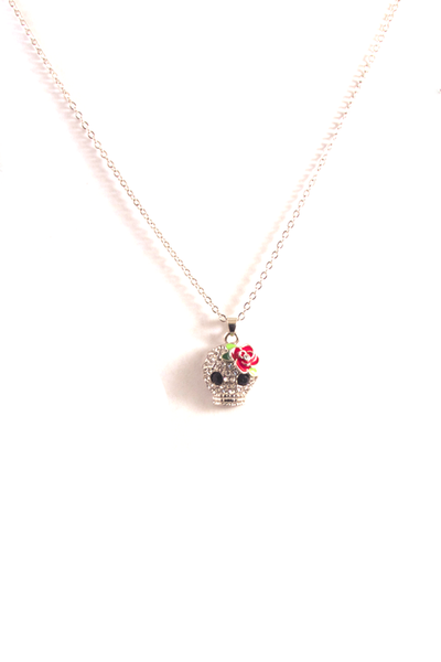 Skull's Out For Summer Necklace in Silver