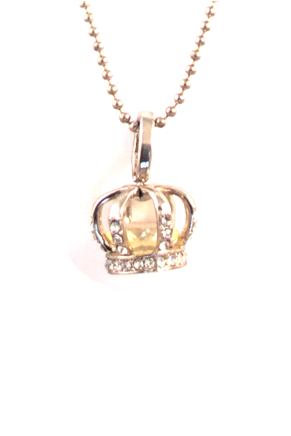 Crown Caged Crystal Necklace