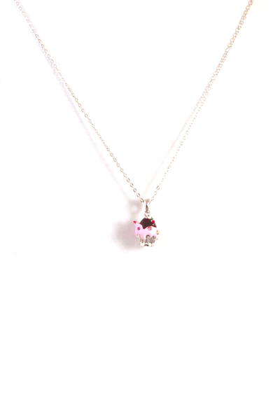Cupcake Of the Day Necklace in Silver