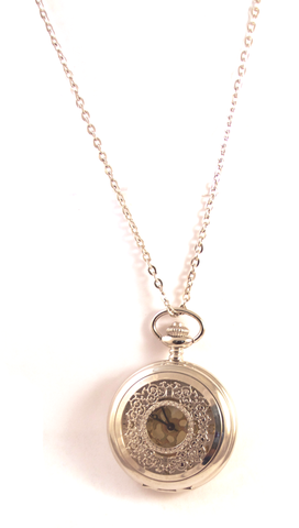 Time Will Tell Pocketwatch Necklace