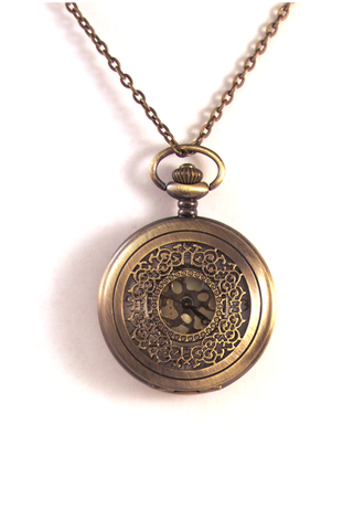 Chasing Time Pocketwatch Necklace