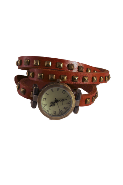 Caught Up in the Wrap-ture Watch in Light Brown
