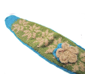 Winter Knit Fleece Lined Headband in Moss
