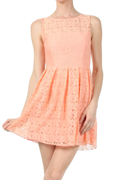 Iced Tea Afternoon Dress in Peach