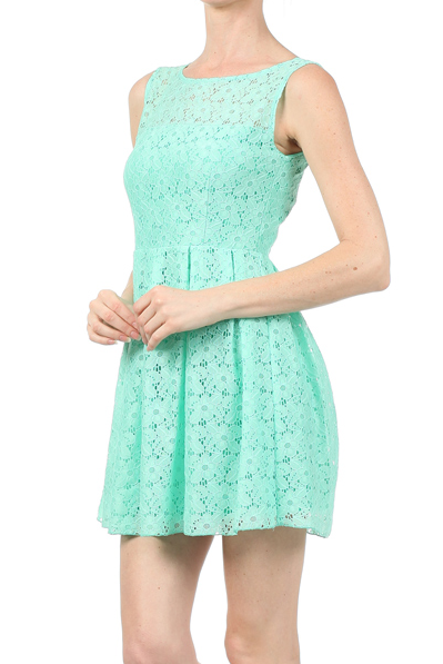 Iced Tea Afternoon Dress in Mint