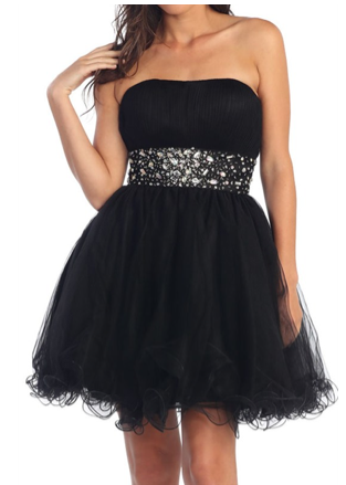 Saturday Soiree Party Dress in Black