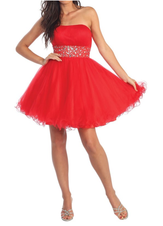 Saturday Soiree Party Dress in Red