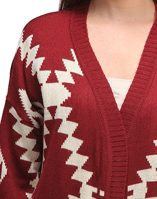 Aspen Lounge Sweater in Burgundy