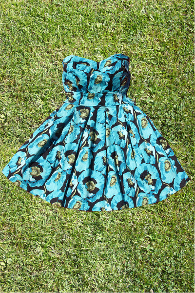 Botanist Bouquet Dress in Turquoise