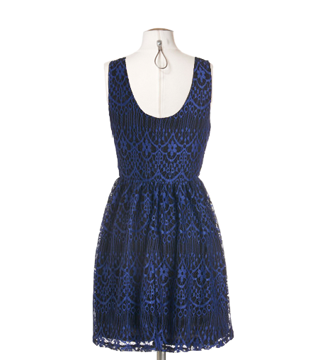 Cerulean Celebration Lace Dress