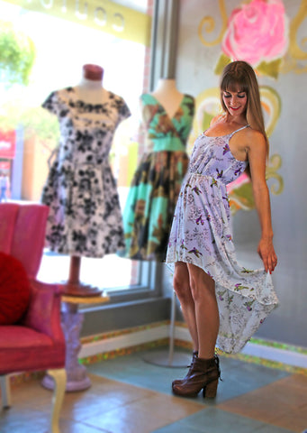 Flora and Avifauna High Low Dress