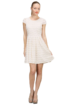 Concorde Cocktail Hour Dress in Ivory