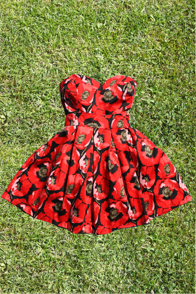 Botanist Bouquet Dress in Red