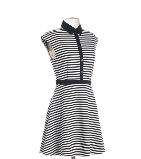 City Shopping Day Striped Dress