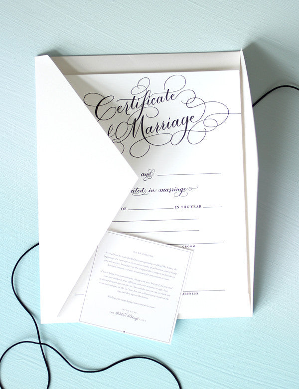 Marriage Certificate Black Southern Weddings Shop