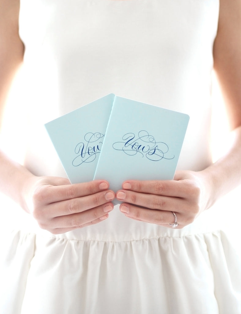 Vows Booklet Set - Blue