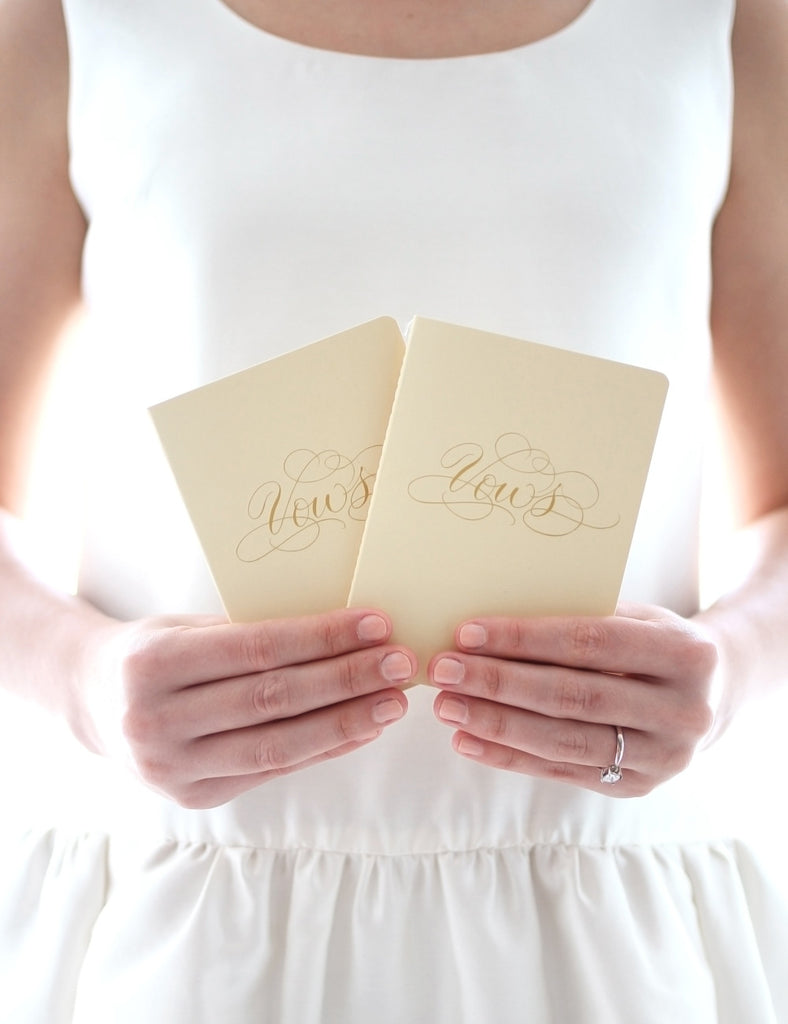 Vows Booklet Set - Cream