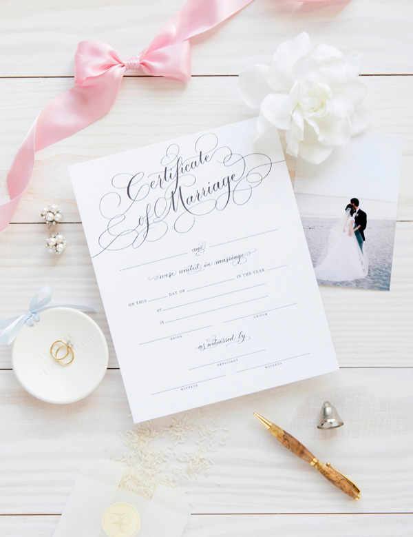 Marriage Certificate - Black