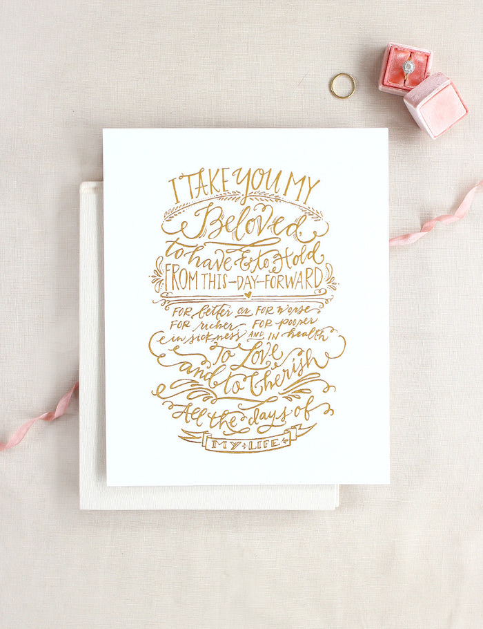 Vows Print - Gold
