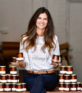 bia makes small batch handmade scented candles