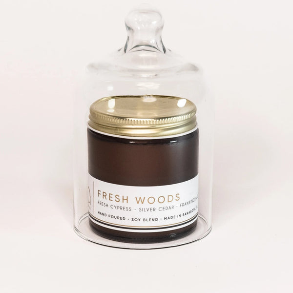 Fresh Woods Petite Candle 20hr Burn - bia candle co