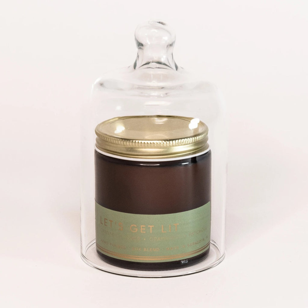 Glass Cloche Dome (small) - bia candle co
