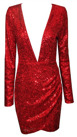 Ivanka Long Sleeve Sequin Dress - More Colors