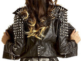 Avi Spiked Moto Jacket